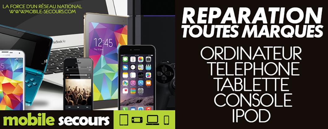Mobile Secours HUOS SOS INFORMATICS réparation téléphone, tablette, console, ordinateur, iPod